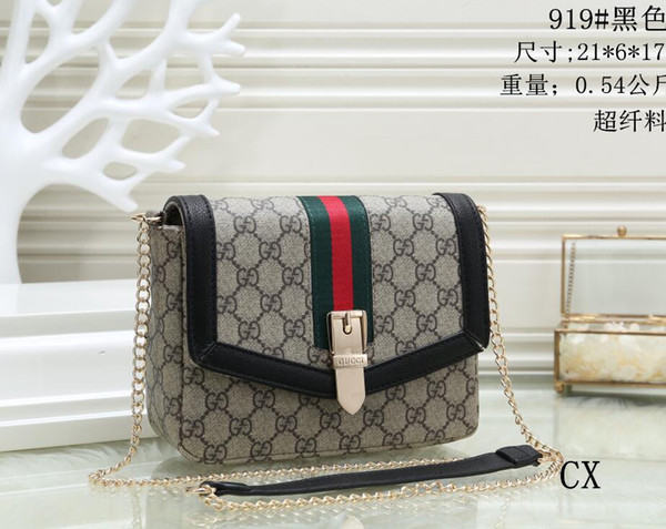 Hot Sell 2019 free shipping classic Fashion eva clutch PU leather bags women handbags shoulder bags top quality Designer bags Drop ships 009