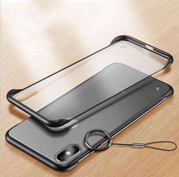 Sem moldura bumper case para iphone x xs max xr coque transparente para iphone 7 8 bumper protetora fosco capa shell