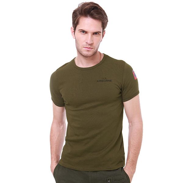 Outdoor Stretch T-shirt Style Cotton Tight Body Short Sleeves Hiking T-shirt Tactical Clothing for Outdoor Sport