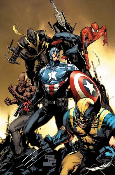 Marvel,Home Decor HD Printed Modern Art Painting on Canvas (Unframed/Framed)