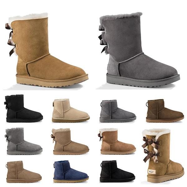 Novo Designer Austrália mulheres botas de neve clássico tornozelo curto arco bota de pele para o inverno cinza preto mulheres inverno sapatos tamanho 36-41 frete grátis