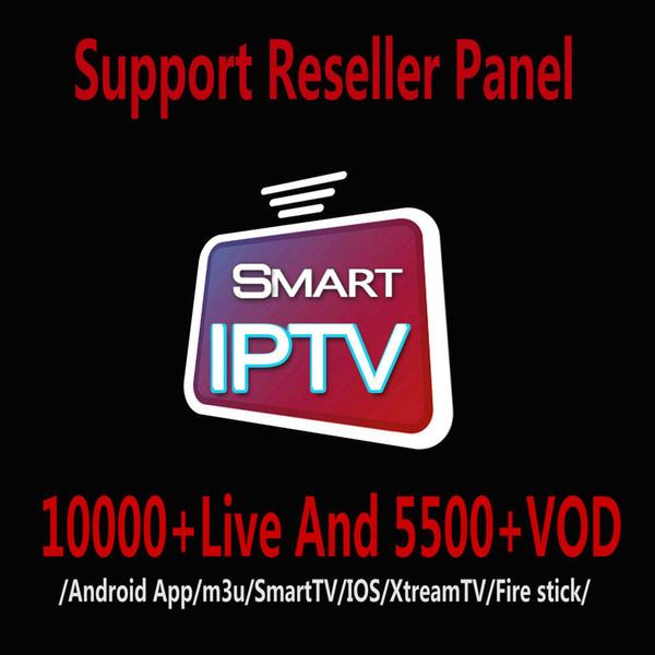 Assinatura IPTV 10000 + LIVE e 5500 + VOD Abonnement IPTV Francês Portugal Italia Europa Árabe EUA Para IPTV Box IOS Android TV BOX M3U
