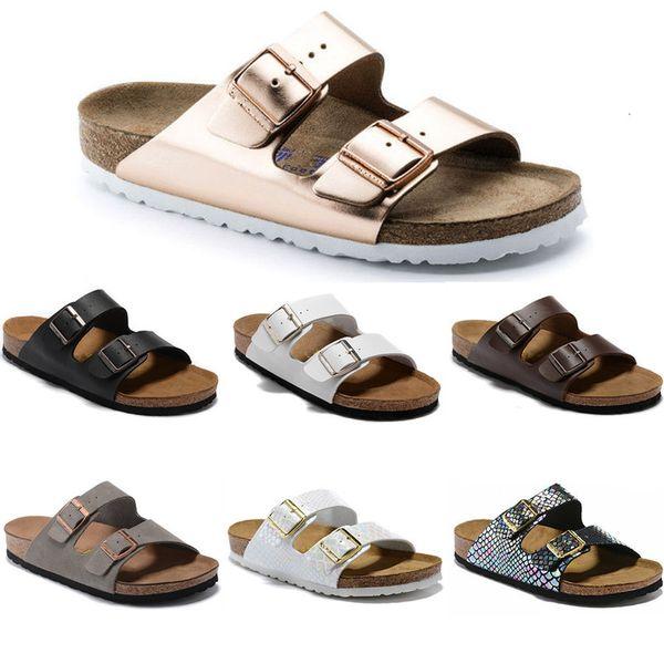 best selling 2020 Arizona New Summer Beach Cork Slipper Flip Flops Sandals Women Mixed Color Casual Slides Shoes Flat Free Shipping 34-47