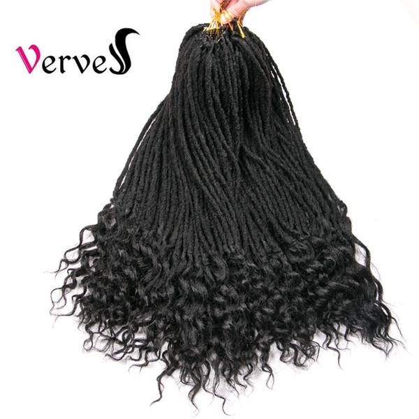 Dreadlocks 1 parça Tığ örgü Saç Uzantıları 22 inç Kanekalon Dreads locs sentetik Ombre Tığ Örgüler saf renk