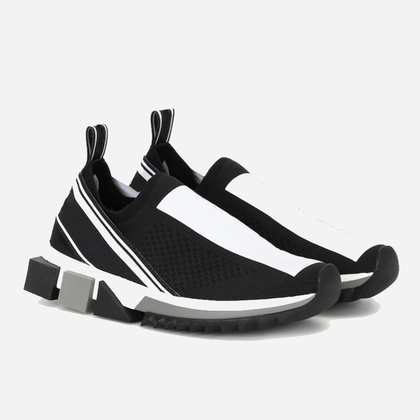 Mode de luxe Sorrento Sneaker chaussures pour hommes Designer Tissu élastique Jersey Slip-on Sneaker Lady Bicolore caoutchouc Micro Sole Chaussures Casual V1