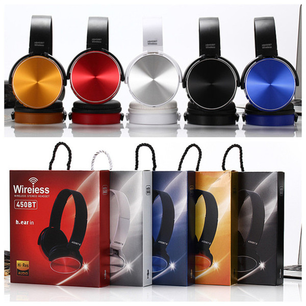For Sony MDR-XB450BT Foldable Wireless Bluetooth Headphone heavy bass Folding earphone stereo headset with NFC FM support TF card