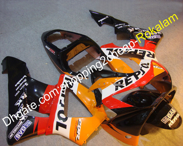 Para Honda Fairing CBR900RR 929 2000 2001 CBR929RR CBR 900RR 01 02 ABS Carrito de accesorios para motocicletas de carrocería (moldeo por inyección)