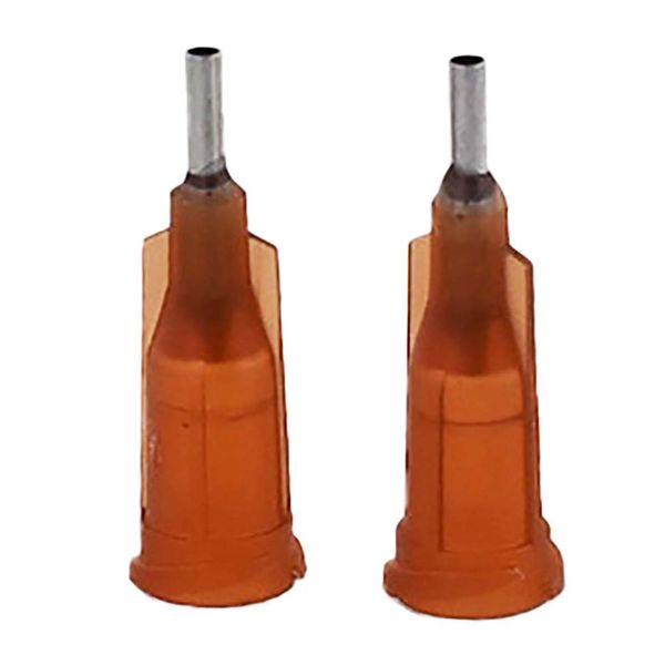 best selling wholesale 15G W  ISO standard Dispensing needles PP luer lock hub 0.25-inch tubing length precision S.S. dispense blunt tips