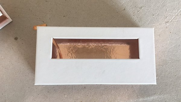 gold and white box without lashes