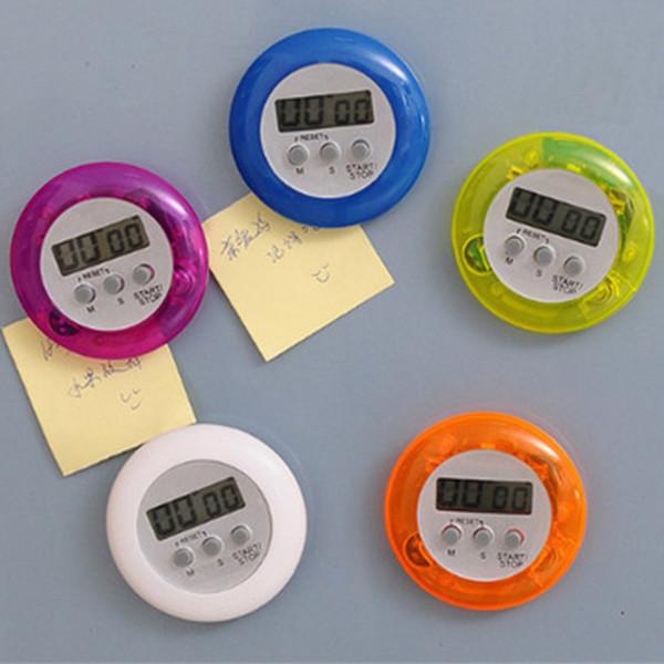Temporizador de cozinha Digital Alarme Temporizadores de Cozinha Gadgets Mini Bonito Rodada LCD Display Count Down Tools ZZA1137