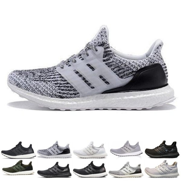 Ultra 3.0 4.0 Running Shoes Men Women Core Triple Black White Oreo CNY Primeknit Trainer Sports Sneakers Size 36-47 Free Shipping