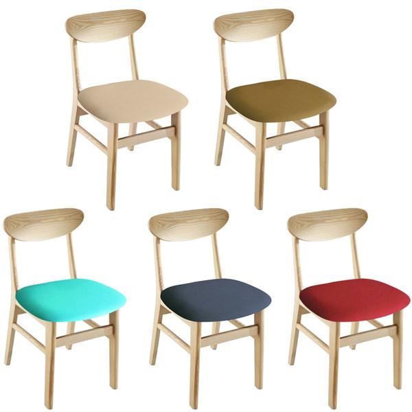 Nuevas fundas de silla de elasticidad universal Funda impermeable y antiincrustante Protector de silla de comedor para el hogar Funda de asiento de alta calidad 2019
