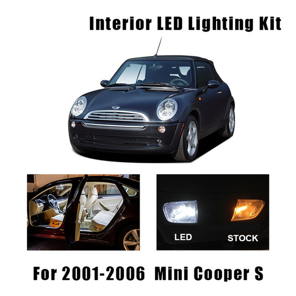 11pcs weiße Canbus Auto-LED-Innenbeleuchtung Tür Kfz-Kennzeichen-Birnen-Kit Fit For 2001-2006 Mini Cooper S Karte Dome Lamp