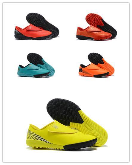 Nuevo 2019 Botas de fútbol CR7 Tamaño 30-35 Mercurial Superfly V AG FG Zapatos de fútbol niños niñas Niños Fútbol Cleats