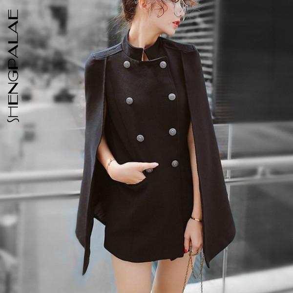 Streetwear Primavera Coreano Moda Chic Style Streetwear Regular Sleeveless Solid Stand petto doppio petto giacca moda FQ352
