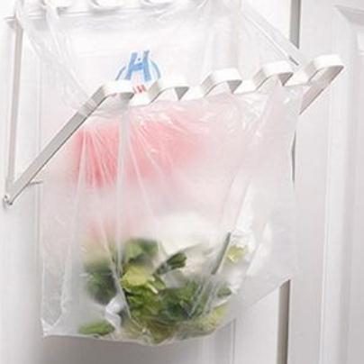 Tür zurück hängen müll rack lagerung küche müllsack kann halter hängen küchenschrank müll rack lp0065