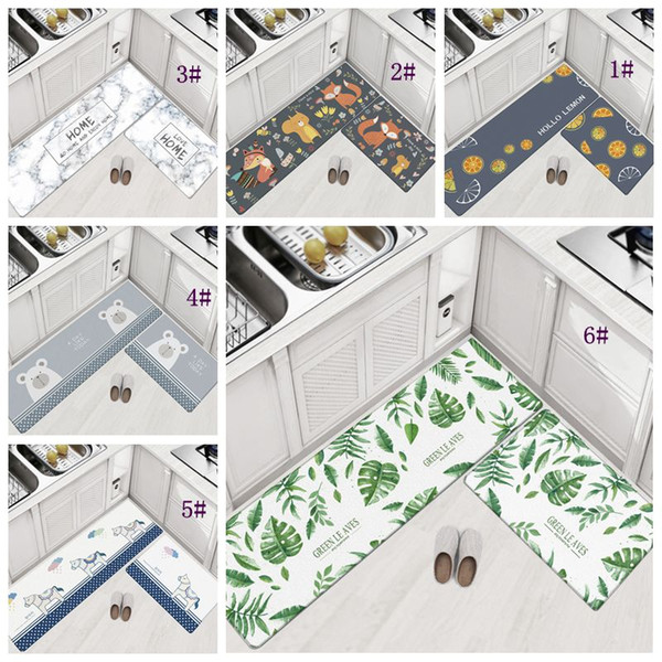 45*75cm Home Carpets PVC Floor Rugs For Bedroom Living Room Mats Kitchen  Oil-proof Pad Bathroom Entrance Waterproof Non-slip Mat DBC DH1122