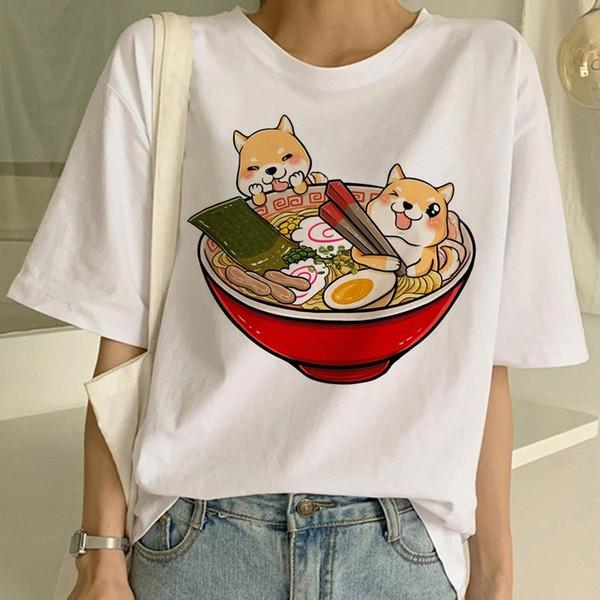 Shiba Inu T Shirt Funny Cute Animal Shirt Funny Graphic Korean Clothing Top Women Ulzzang T-shirt Female Tees Harajuku For Women