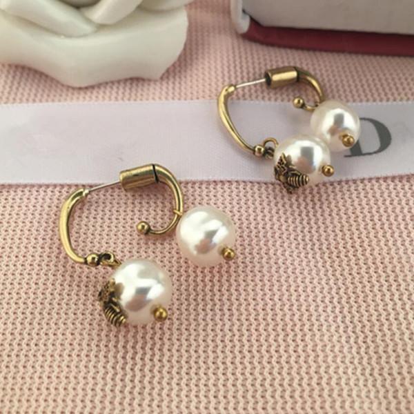 joyería de lujo S925 plata aguja perla irregularidad del perno prisionero de metal clásico para mujeres de la moda caliente