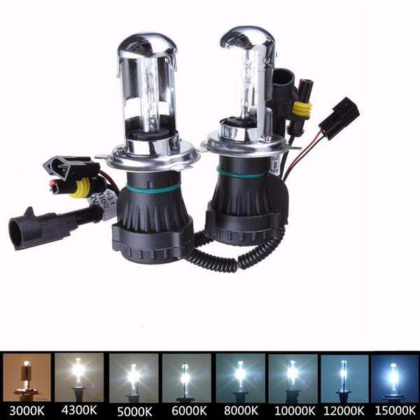 2 Unids H4 35W HI / LO Beam x-xenon Leadlamp para Coche para HID Kit de Conversión de Faros Faros Bombilla