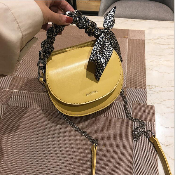 Chain Saddle Bag Handbag Crossbody Bags For Women New Shoulder Bag Fashion Oval Mini Messenger Female Bag