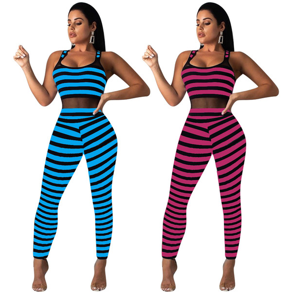Womens Print Tight Jumpsuit Rompers New Casual Vest Slim Long Playsuit Pant Fashion Sexy One Piece Summer Clothes Party Club Wear S-XL