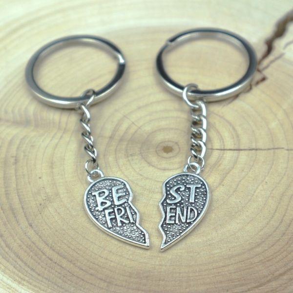 Fashion Broken Heart Keychains Best Friend Keychains Best Friends Friendship Keyring friend gift