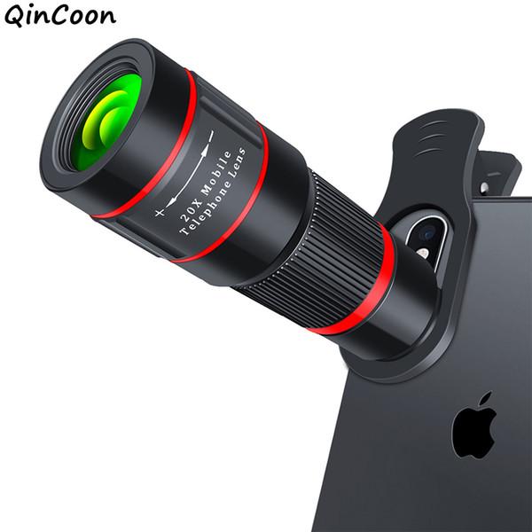 20x Zoom Telephoto Lens 4k Hd Monocular Telescope Phone Camera Lens For Iphone Xs Max Xr X 8 7 Plus Samsung Smartphone Mobile J190704