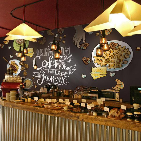3D Retro Tapeten Wandbilder für Restaurant Cafe Hotel Bar Hintergrund Dekoration Tuch Wandaufkleber Lebensmittelgeschäft Wandkunst Aufkleber