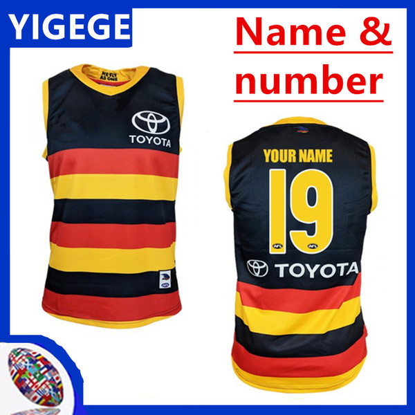 2019 ADELAIDE CROWS GUERNSEY HOME RUGBY JERSEY Adelaide Crows Magpies home Eddie Betts sleeveless best quality AFL size S-3XL (can print)