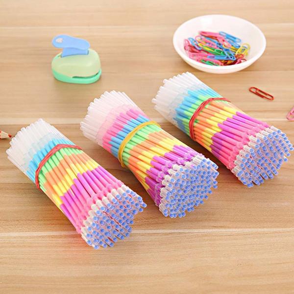 10 piezas de colores 6 en 1 resaltador Plumas de gel Repuestos Papelería de oficina de estudiante