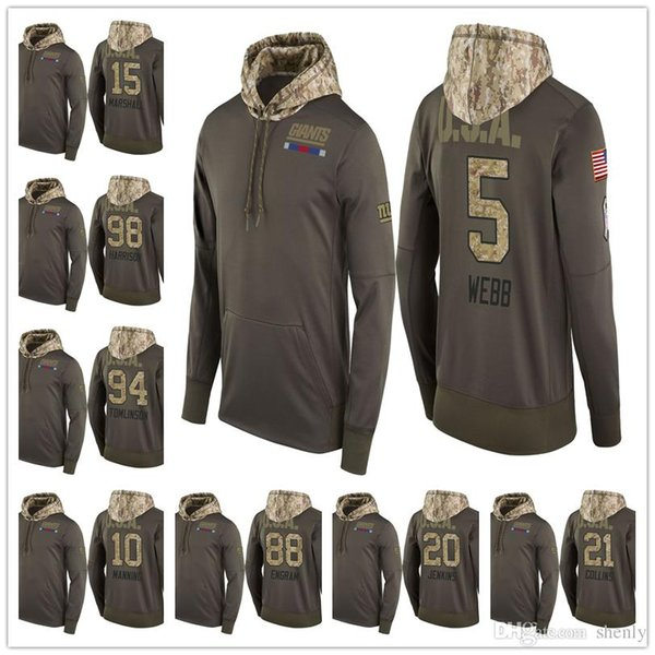 separation shoes e04a2 42941 2019 Men Youth Women Giants Salute To Service Sideline Therma Pullover  Hoodie Dell Beckham Jr Landon Collins Eli Manning Sterling Shepard UK 2019  From ...
