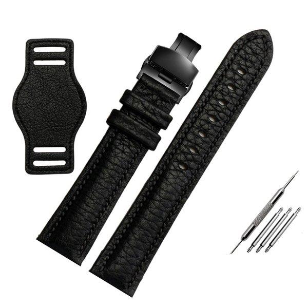 черная черная пряжка 18 мм