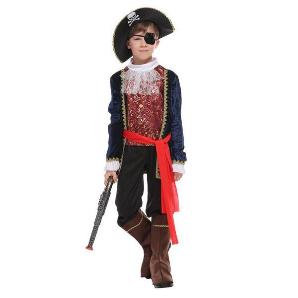 2018 Boy/'s Pirates Of the Caribbean Halloween Costumes Uniform Kid Costume Fancy