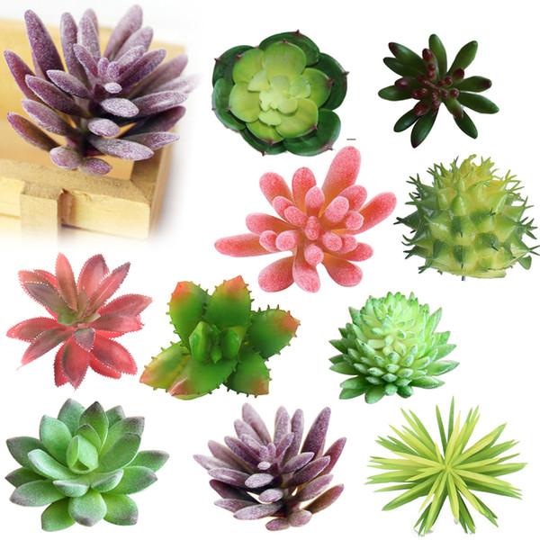 1pcs Succulents Land Lotus Plants Grass Desert Artificial Landscape Plant Fake Flower Arrangement Home Garden Decor C19041702