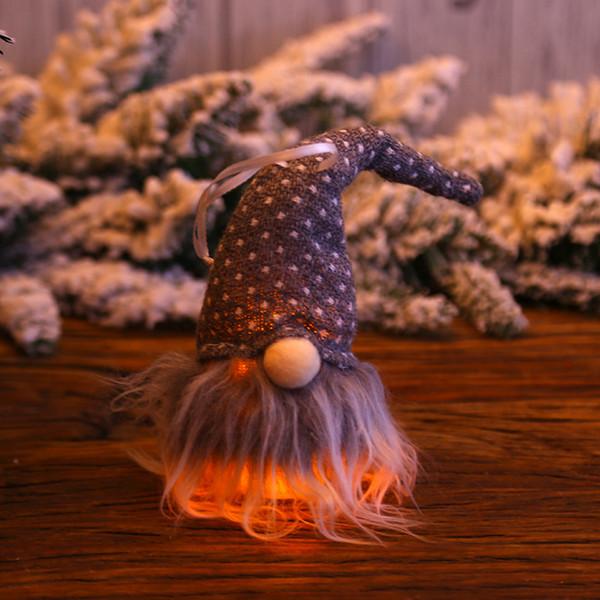 Festival de suspensão favor de partido Pingentes ornamento Homem Floresta boneca casa com acessórios luz interior Decorações de Natal Janela