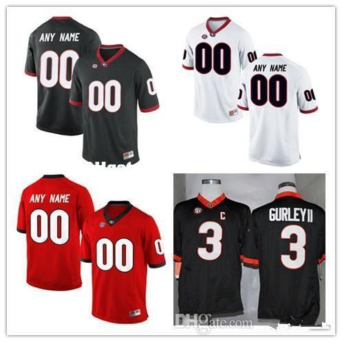 Custom Mens Georgia Bulldogs College Football Limited white red black Personalized Stitched Any Name Number #3 #7 #10 #27 #34 Jerseys XS-5XL