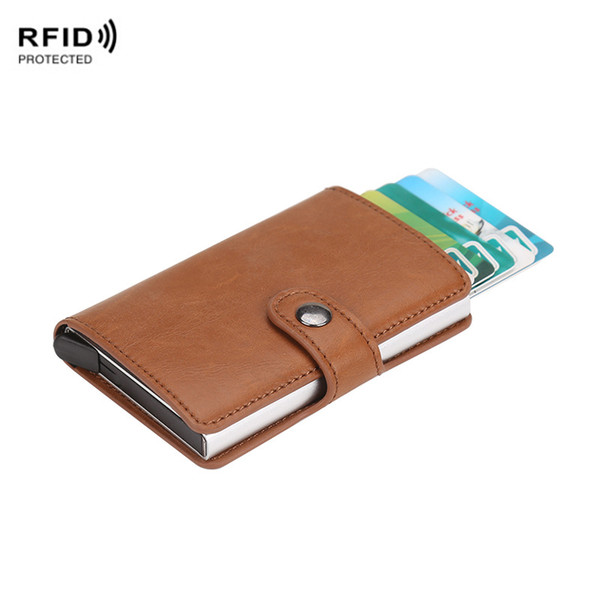 Automatic Silde Aluminum Men Credit Card Holder Protector Rfid Blocking  Wallet Purse Metal Wallet Money Clip Case Womens Credit Card Wallet Bags  Men