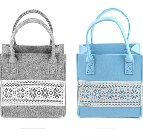 Felt Handbag Felt Cloth Shopping Bag Patchwork Storage Bags with Pattern Multifunctional Phone Remote Controll Storage Bag Pockets GGA2140