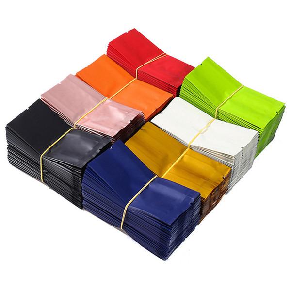 100pcs Aluminum Foil Organ Bag Food Packaging Bags Small Heat Seal Vacuum Bag Kraft Paper Tea Coffee Packing Pouch