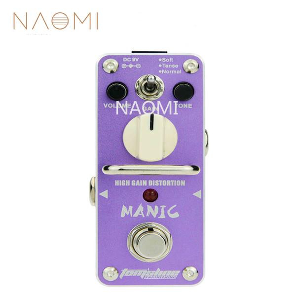 NAOMI AROMA Guitar Effect Pedal AMC-3 Manic High Gain Distortion Mini Single Guitarra Effect Pedal W/True Bypass