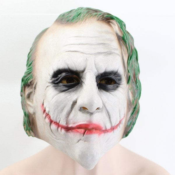 Joker Latex Mask Movie The Dark Knight Cosplay Horror Scary Clown Masks Halloween Party Decorate Props