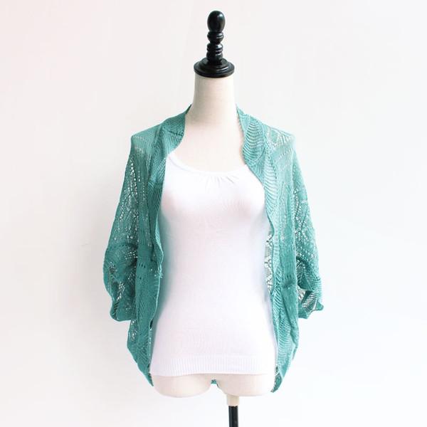 Fashion Summer Short Women Small Cape Short Sleeve Cotton Jacket Shrug Small Cardigan Pink Color Free Size