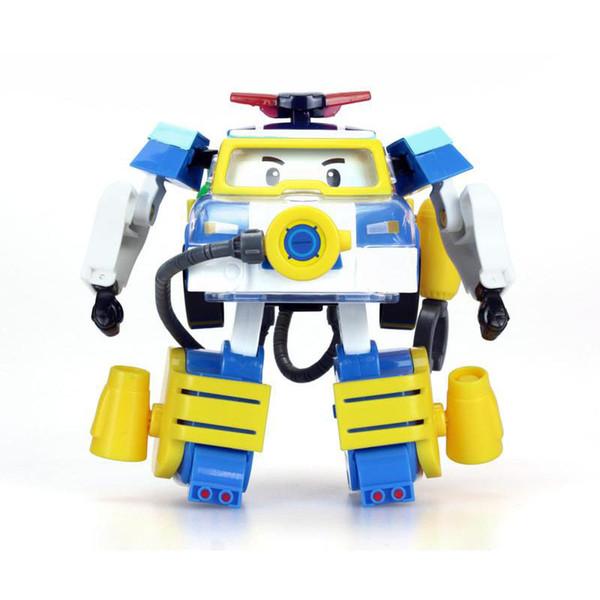 Silverlit Trasforma Diver Robocar POLI elettrico dell'automobile di telecomando Dessin Animé Robot Car Poli deformazione del fumetto del bambino Boy Toy 3-6T 04