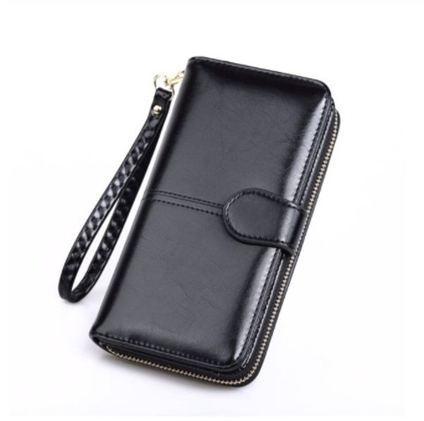 Designer Bag Leather Wallet for Credit Card Female Coin Purse Fashion Brand Luxury Long Zipper Lady Solid Purse Women Wallets Pinkycolor 2