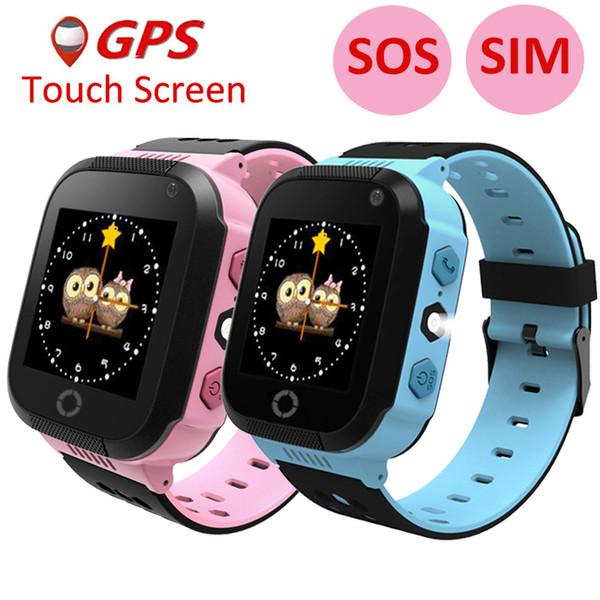 2017 Smart Baby Watch Children Kids Y21 GSM GPRS GPS Locator Tracker Anti-Lost SOS wechat Dial Call Smartwatch Child Guard alarm