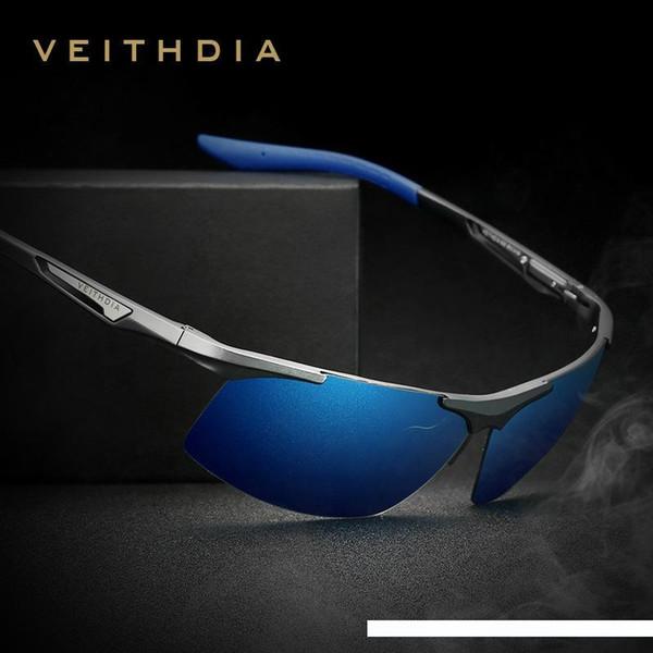 Aluminum Magnesium Sunglasses Polarized Coating Mirror Glasses Eyewear Accessories For Men Golden