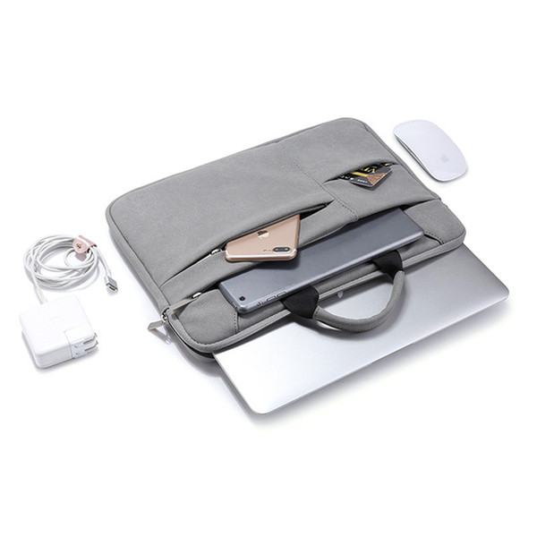 Universal Suede Laptop Case Bag High Quality for DELL MAC Pro Case Nylon Laptop Case Pink Bags for Men Women Zipper Unisex