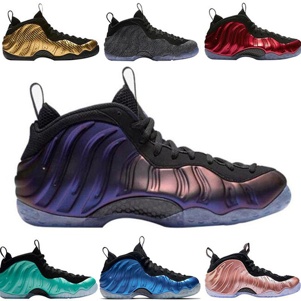 Olympic Penny Hardaway basketball shoes for men Eggplant Island green Metallic gold Red Pink FOAM women fashion Sneaker shoes size us41-47