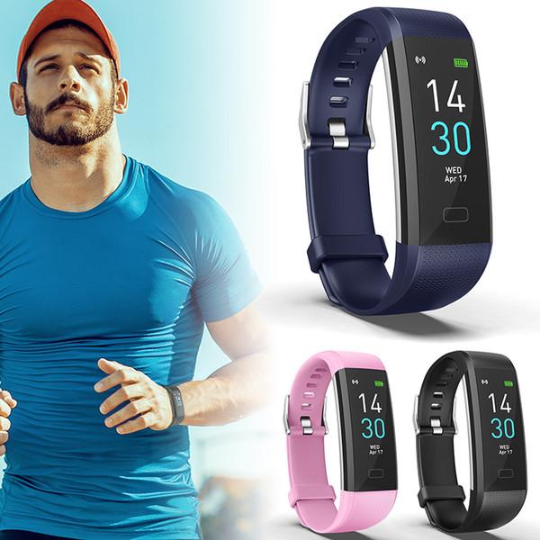 Femmes Hommes Fitness Smart Watch Moniteur de fréquence cardiaque Podomètre étanche Montre de sport à usage quotidien @JH